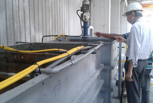 ME Tech Engineering Fibreglass Tanks with Mixers for Wastewater Treatment